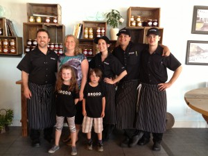 Chef Paul Cecconi, family and team at Brodo Kitchen Penticton