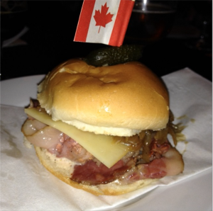 corned beef and bacon slider