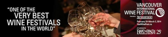 Vancouver International Wine Festival event tickets going fast…get them while they last!