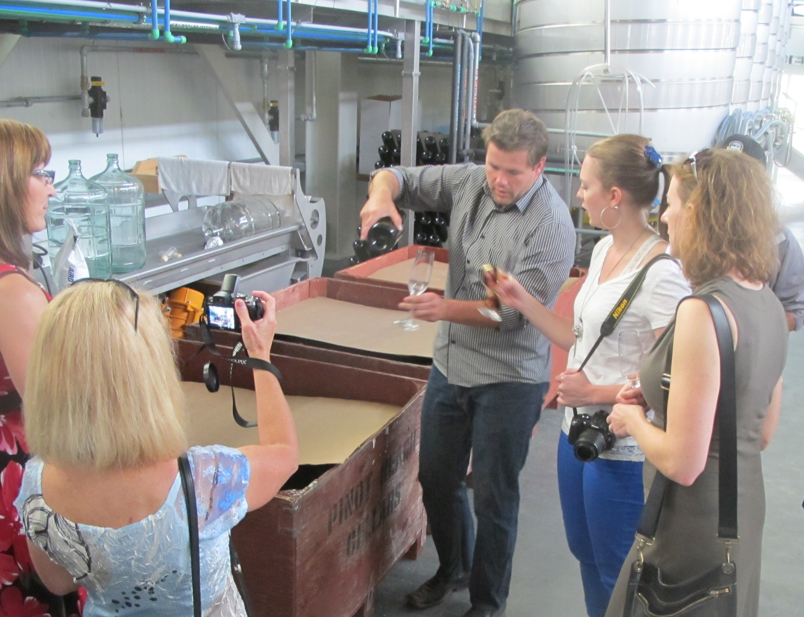 Tantalus Vineyards' winemaker gives guests a rare barrel sample