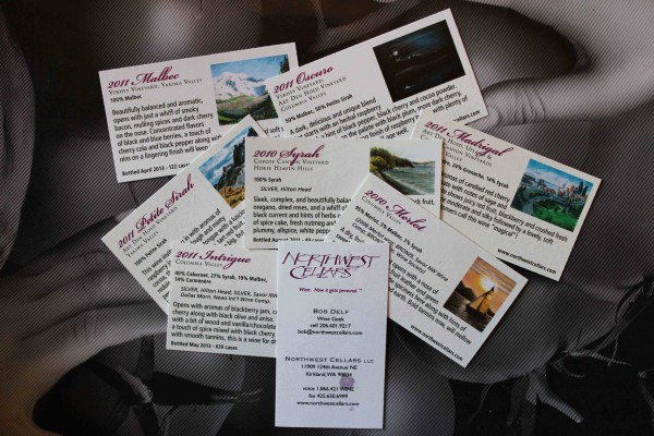 Northwest Cellars wine cards