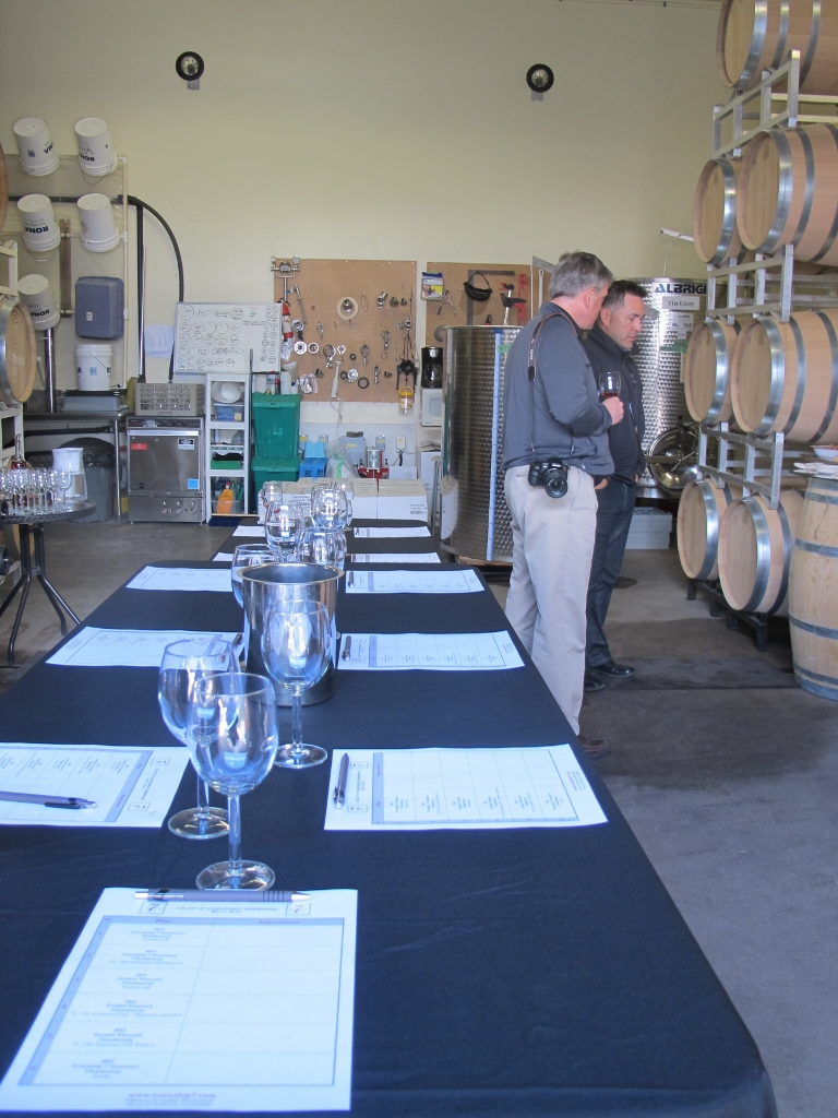 Tools of the trade await at Township 7 Winery.