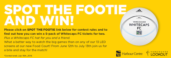 Harbour Centre invites you to play Spot the Footie