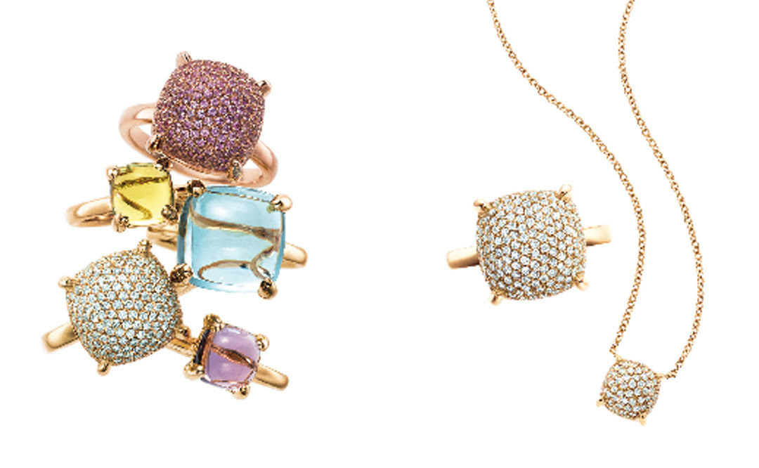 3d030f376 Paloma's Sugar Stacks include her favourite gemstones: amethyst, blue and  pink sapphires, rose quartz and blue topaz. Tiffany artisans hand cut the  ...