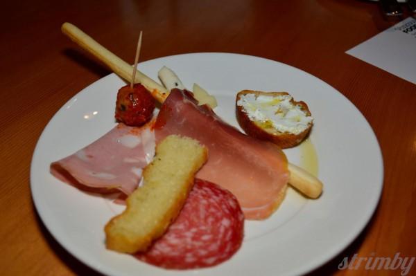 Antipasto platter from Caffe al Mercato