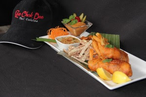 Thai style fish and chips