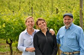 The Brunner Family.  L-R: Cristina, Paula, Paul.