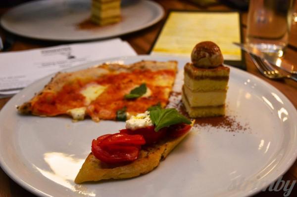 Bella Gelateria's delicious tasting plate.