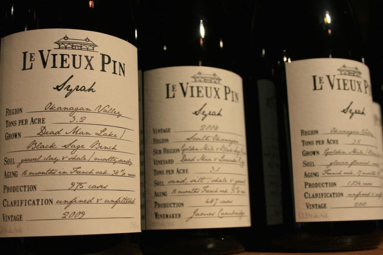 LaStella and Le Vieux Pin Wineries Vertical Tasting
