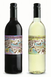 Route 97 Big Adventure Red and Route 97 Meandering White available at select BC VQA stores.