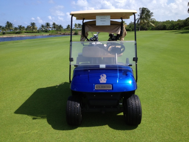 Gorgeous golf cart at Blue Tip Hyatt Regency Cayman - RBuchanan photo