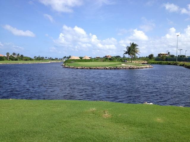 Island green at Blue Tip Hyatt Regency Cayman - RBuchanan photo