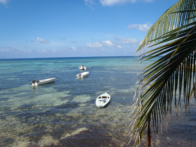 Boats await in the Caribbean - RBuchanan photo