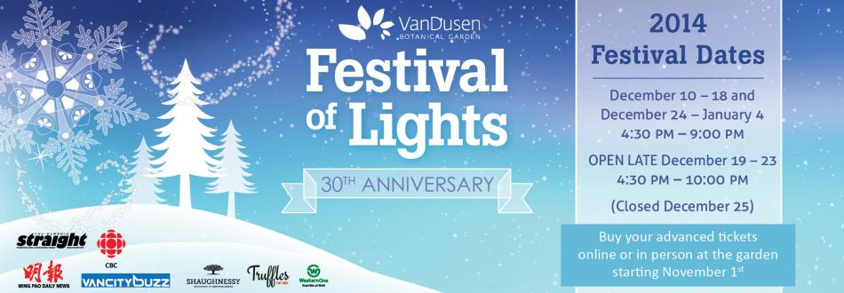 VanDusen Garden lights up with Festival of Lights starting December 10th