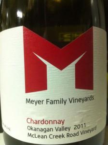 Meyer Family MCR 2011 chardonnay