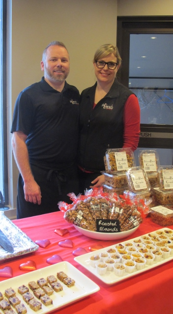 RBuchanan photo - Heather and Chef Stewart Glynes of The Bench Artisan Market Penticton at the Black Box market of local products