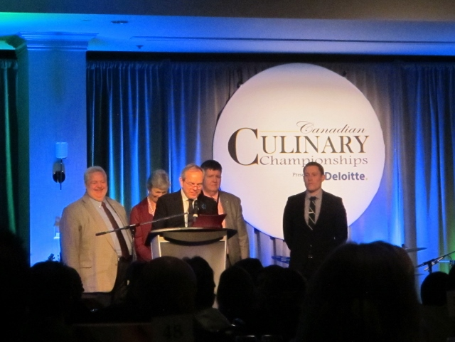 RBuchanan photo - National Culinary Advisor James Chatto begins announcements at Grand Finale