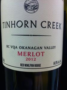 Tinhorn Creek 2012 Merlot