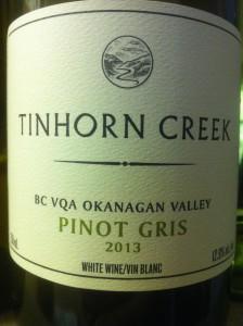 Tinhorn Creek 2013 Pinot Gris