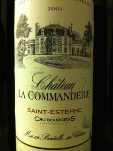 Chateau La Commanderie 2003