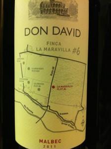 Don David Finca 2011 Malbec