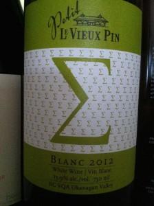 Le Vieux Pin Petit Blanc 2012