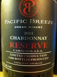 Pacific Breeze 2011 Reserve Chardonnay