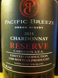 Pacific Breeze 2011 Reserve Chardonnay