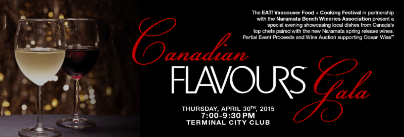Canadian Flavours Gala to Celebrate Canadian Food & Wine on April 30th