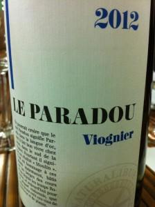 Le Paradou 2012 Viognier