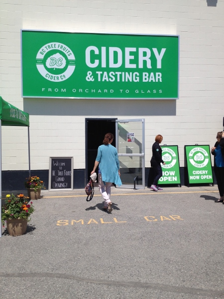Food writer Jennifer Cockrall-King arrives for BC Tree Fruits Cidery grand opening