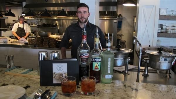 Pilgrim & Pearl (Kelowna) bartender Karl shows us what goes into a Negroni