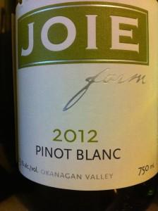 Joie 2012 Pinot Blanc copy 2