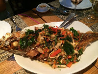 Whole Ocean Perch at Thai Cuisine by Montri, Vancouver