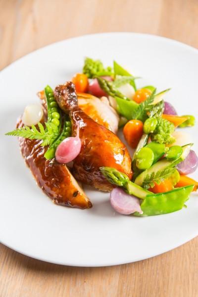roasted chicken Chef Alex Chen