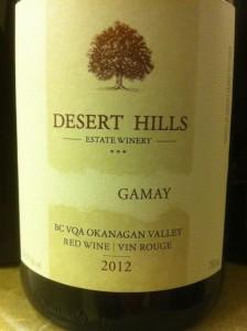 Desert Hills 2012 Gamay