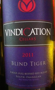 Vindication 2011 Blind Tiger