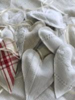Linen Hearts by Ratatouille Designs