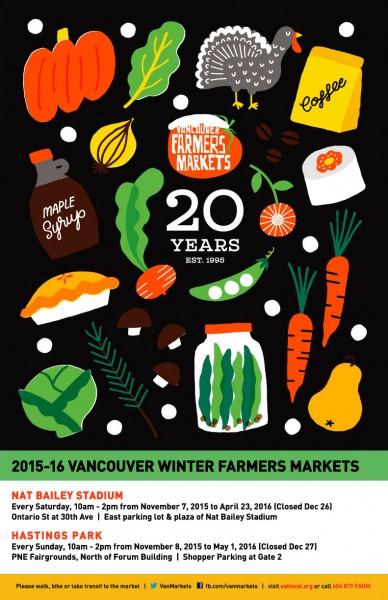 van farmers markets poster