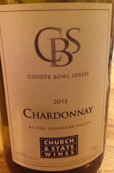 Church & State 2013 CBS Chardonnay