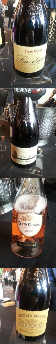Cleto Chiarli flight of Lambrusco at Vancouver International Wine Festival