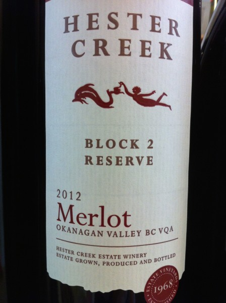 Hester Creek 2012 Block 2 Reserve Merlot