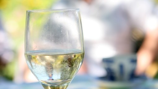 white wine with chef