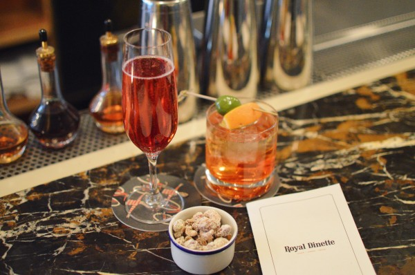 Happy Hour Kir Royale and Aperol Spritz