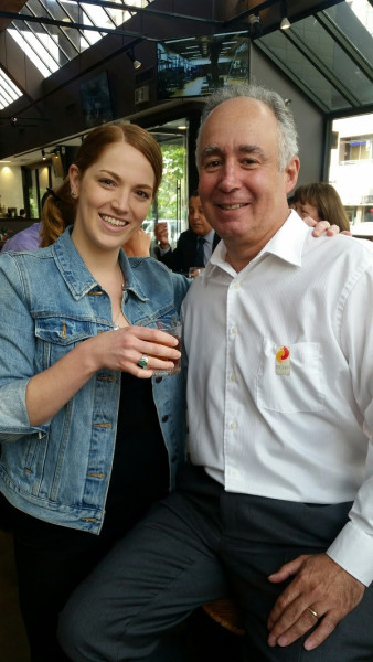 Timber restaurant manager Sarah Hussey shares a Negroni with BCHF executive director Alan Sacks.