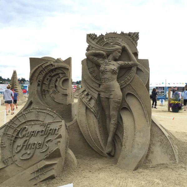 Quality Foods Sand Sculpture competition in Parksville through August 21
