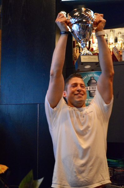Host The Cascade Room and Galen Linnett took possession of the Main Street Cup as the People's Choice