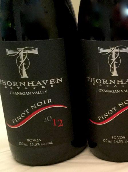 Thornhaven 2012 Piinot Noir