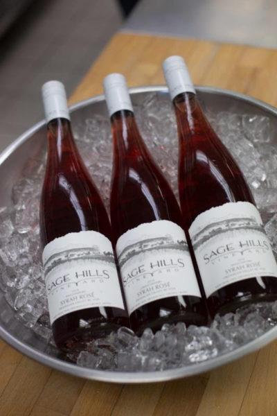 Salmon safe wine from Sage Hill Vineyard. Photo credit- Sombilon Photography