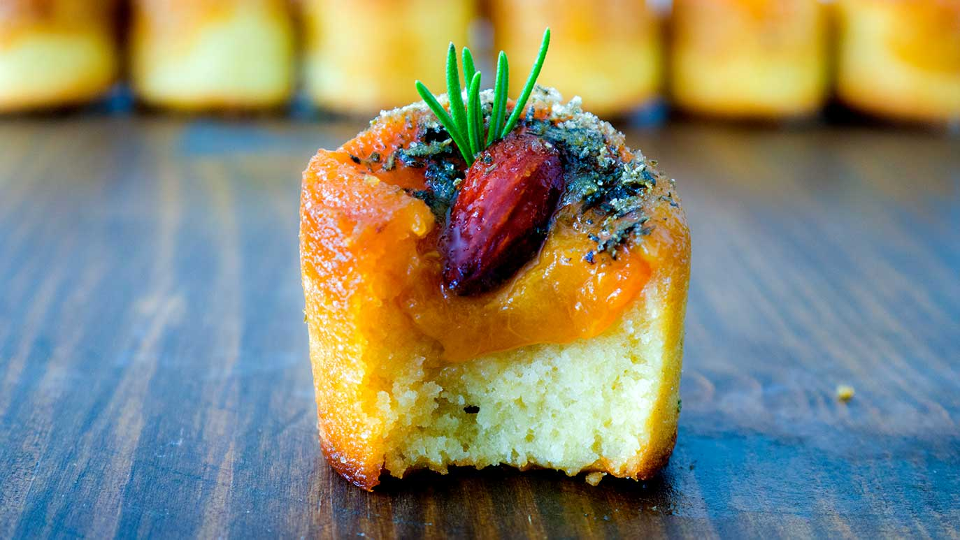 #TasteofThursday summer apricot, almond and rosemary upside down cakes